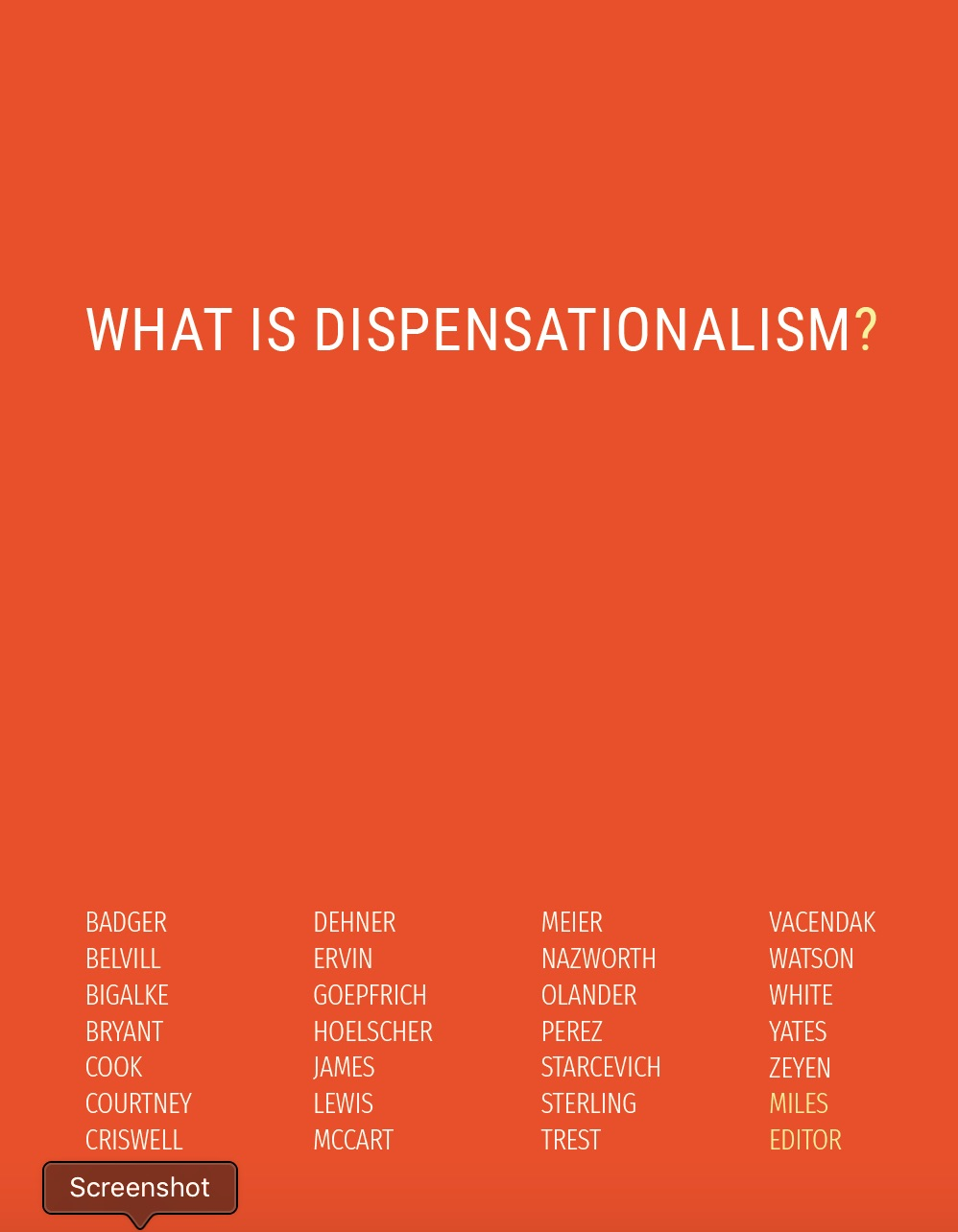 What is Dispensationalism Front Cover